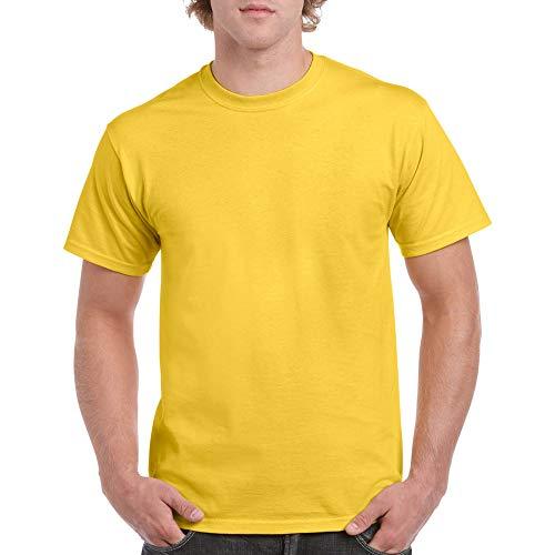 Gildan Men's Heavy Cotton Adult T-Shirt, 2-Pack, Daisy, Medium