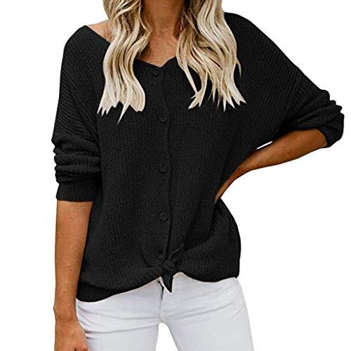 DRAGONHOO Sweatshirt for Women Long Sleeve Off Shoulder Sweater Button Down Shirts Sexy Tops Blouse
