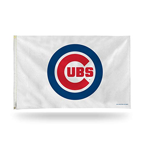 MLB Chicago Cubs Logo (On White) 3-Foot by 5-Foot Banner - Lines Cubs Chicago