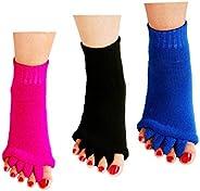 ReachTop Toe Separator Socks Foot Alignment Socks Massage Socks for Women