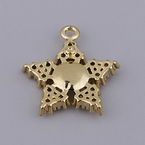 Zirconia Star Charms Pendants for DIY Necklace Craft Jewelry Making Findings Necklace Jewelry Crafting Key Chain Bracelet Pendants Accessories Best -