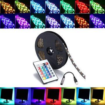 (0.5/1/2/3/4/5M SMD5050 LED Strip Lamp Bar Backlilghting Kit + USB Remote Control DC5V - LED Strip LED Strip Light Kit - (3M) - 1 X LED strip)