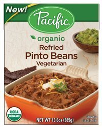 Pacific Natural Foods Organic Re-Fried Vegetarian Pinto Beans ( 13.6 Oz) (Pack Of 12)