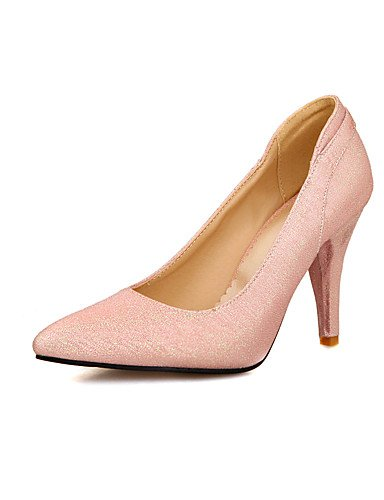 GGX/Damen Schuhe PU Sommer/spitz Toe Heels Büro & Karriere/Casual Stiletto Heel Pailletten Blau/Rosa/RE/geschliffene/Gold red-us6 / eu36 / uk4 / cn36