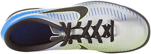 Nike Men's MercurialX Vortex III NJR Tf Footbal Shoes Multicolour (Racer Blue/Black-chr 407) LQ6J4Gt