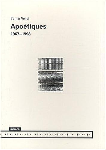 En ligne téléchargement gratuit Apoétiques : 1967-1998 pdf