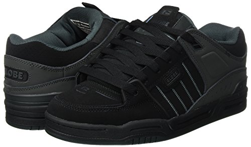 Globe Fusion Men Round Toe Synthetic Gray Skate Shoe Black / Night free shipping wiki eSdzH9