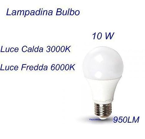 bombilla LED 10 W E27 bulbo luz fría 6000 K Certificación TUV: Amazon.es: Iluminación