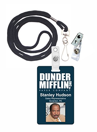 Stanley Hudson The Office Novelty ID Badge Film Prop for Costume and Cosplay • Halloween and Party Accessories]()