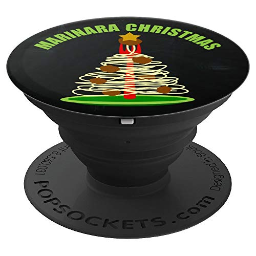 Marinara Christmas Spaghetti Meatballs Tree - PopSockets Grip and Stand for Phones and Tablets