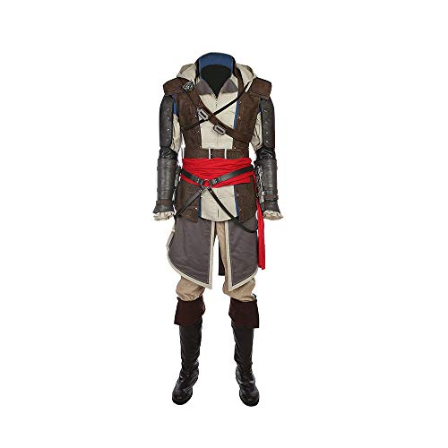 Assassin IV: Black Flag - Edward Kenway Male Cosplay Costume - Welsh Pirate -