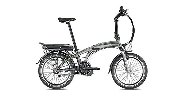 BIZOBIKE Bicicleta eléctrica Plegable A-Class Gris/Verde – Batería ...