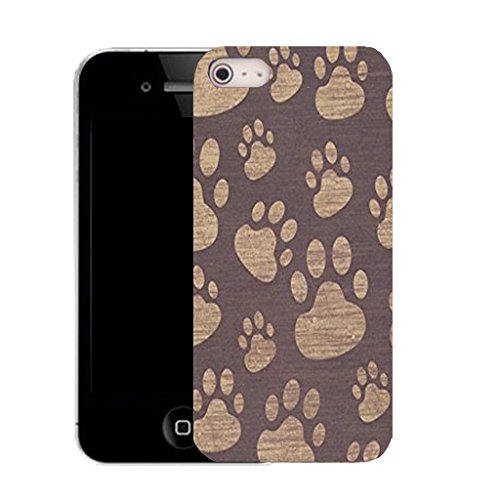 Mobile Case Mate IPhone 4s clip on Silicone Coque couverture case cover Pare-chocs + STYLET - multipaw pattern (SILICON)