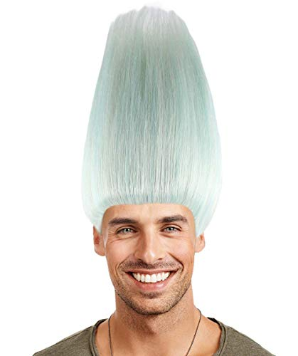 (Colorful Troll Wig Collection (Adult, Silver White))