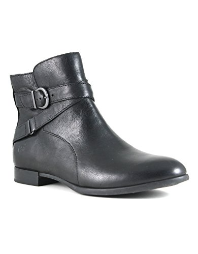 Born Womens Baily Leather Almond Toe Ankle Fashion Boots, Black, Size 6.5