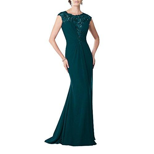 Abschlussballkleider Festlichkleider La Brau Langes Spitze mit Brautmutterkleider Kleider Abendkleider Standsamt Dunkel Tuerkis Chiffon mia Glamour wvqBHRwz