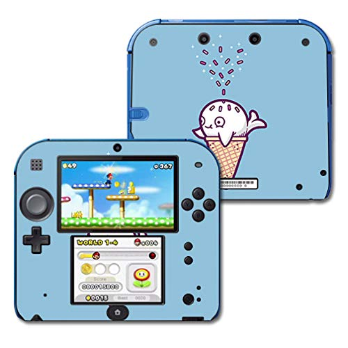 MightySkins Skin Compatible with Nintendo 2DS - Whale Ice Cream | Protective, Durable, and Unique Vinyl Decal wrap Cover | Easy to Apply, Remove, and Change Styles | Made in The USA