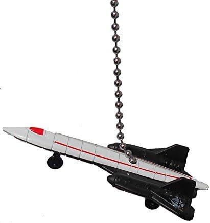 Us Military Airplane Fighter Jet Air Plane Ceiling Fan Pull Light Chain White Blackbird