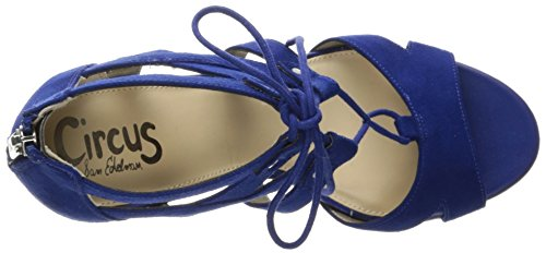 Sam Edelman Circus by Women's Emilia Heeled Sandal Nautical Blue TZ9Aq