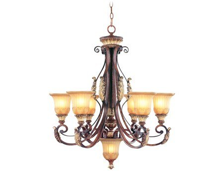 Amazon.com: Livex Lighting 8576-63 Villa Verona - Lámpara de ...
