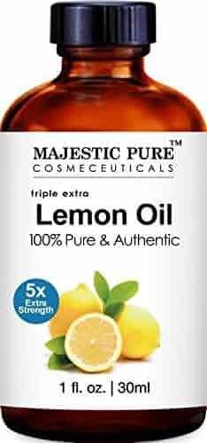 Majestic Pure Lemon Essential Oil, 5x Extra Strength, Therapeutic Grade, Premium Quality Lemon Oil 1 fl Oz