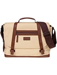 Renwick Treated Canvas & Leather Anti-Theft Messenger Bag