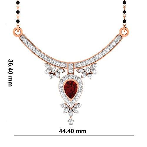 Libertini Colliar argent 925 plaque or Rose serti de Diamant et Rubis