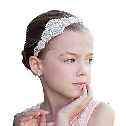 Missgrace Flower Girl Crystal Rhinestones Headband Wedding Hair Accessories Baby Girl Hair Jewelry - Shop Baby Accessories