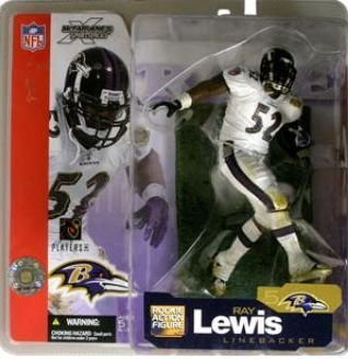 McFarlane Toys NFL Sports Picks Series 5 Action Figure Ray Lewis (Baltimore Ravens) White Jersey (Figure Lewis Ray)