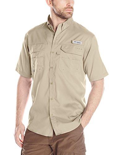 Columbia Blood and Guts III Short Sleeve Woven Shirt, Fossil, Medium