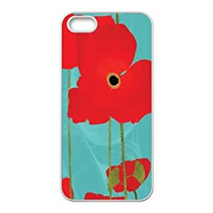 Classic Case theme Flowers - Beautiful red poppies pattern design For Apple iPhone 5,5S Phone Case