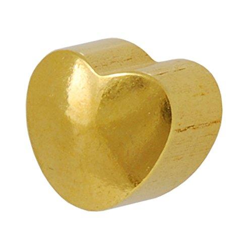 Studex Clous Piercing plaqué or Boucles d'oreilles clous en forme de cœur Uni 4mm