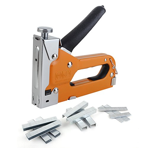 Staple Gun, Genround 3-in-1 Upholstery Staple Gun with 600 Staples,Heavy Duty Staple & Nail Gun, Industrial Staple Gun for Wood, Cable, Furniture