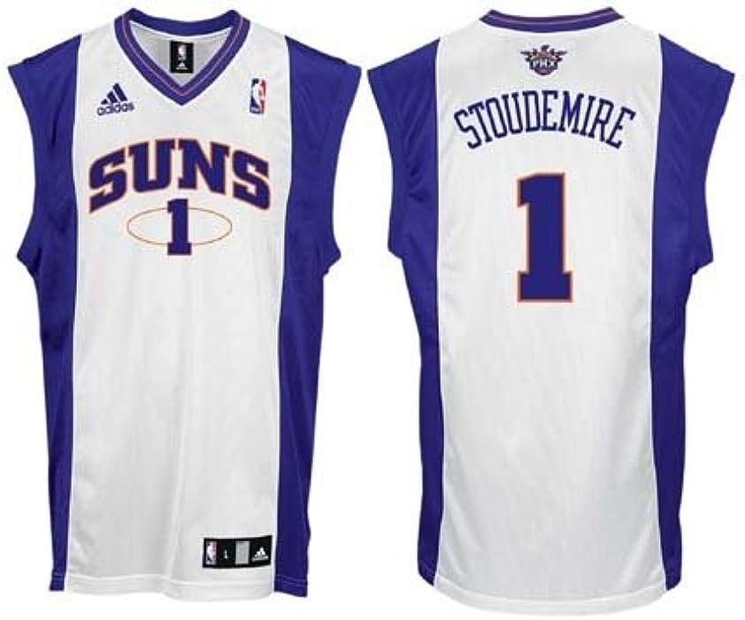 c4aea518183 Amazon.com: Amare Stoudemire Phoenix Suns #1 Replica Adidas NBA Basketball  Jersey (White): Clothing