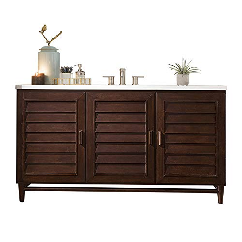 60 in. Single Vanity in Burnished Mahogany Finish