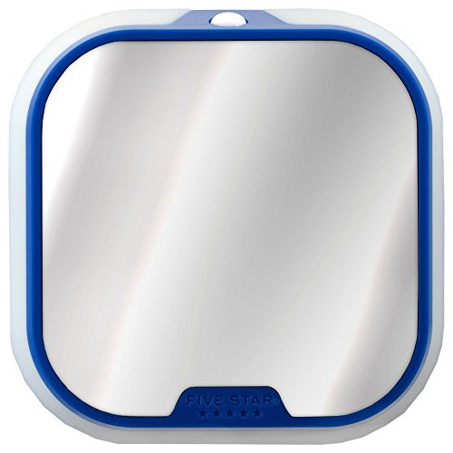 Five Star Locker Mirror and Locker Light, Locker Accessories, Blue, 4.5 in. x 4.5 in. x .88 in. (73589)