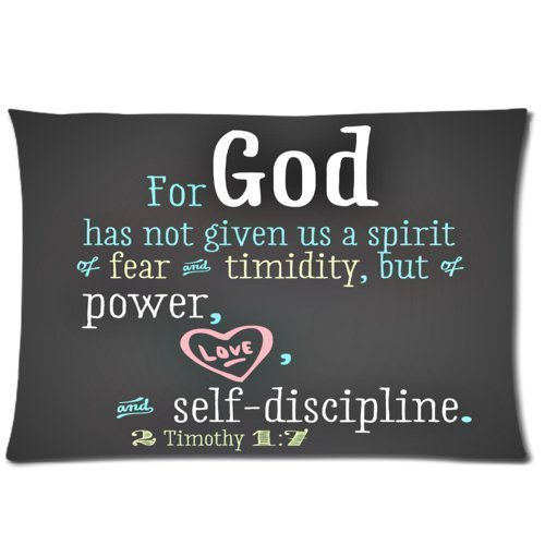 Custom Bible Verse Pillowcase 20×30 Rectangle Soft Cotton Zippered Pillow Case Two Sides Pattern Printed