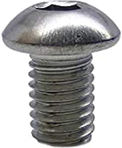 | Flachkopfschrauben rostfrei DERING Linsenkopfschrauben M5 X 6//6 mit Innensechskant ISO 7380 Edelstahl A2 50 St/ück