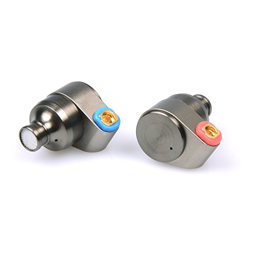 (TIN HiFi T2 HiFi 2DD Double Dynamic Drive in Ear Earphone Bass DJ Metal Headphones, 3.5 mm MMCX)