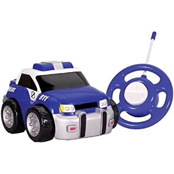 kid galaxy my first rc police car toddler remote control toy blue 27 mhz