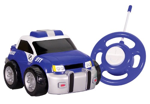 amazoncom kid galaxy my first rc police car toddler remote control toy blue 27 mhz toys games