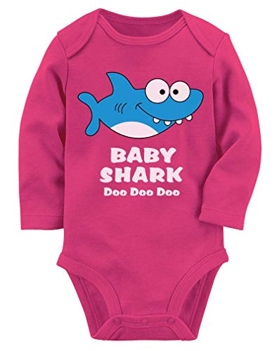 160f151aecc Baby Shark Song Doo doo doo Family Dance for Boy Girl Baby Long Sleeve  Bodysuit 18M