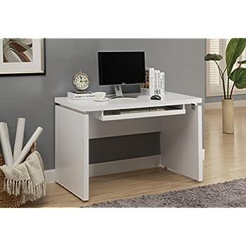 Amazon Com Monarch Computer Desk 48 Inch White Kitchen