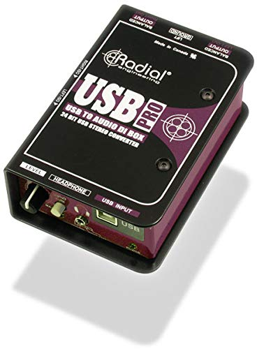 Radial USB-Pro 2-channel Active Instrument Direct Box from Radial