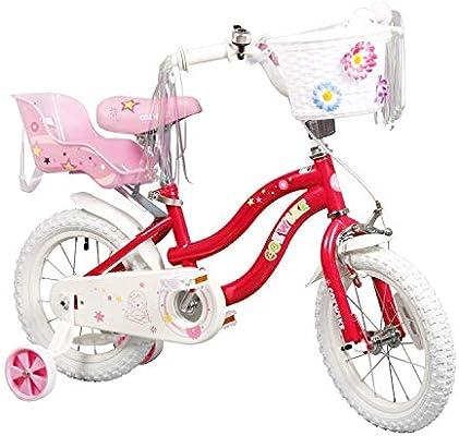 COEWSKE Bicicleta para niños con Marco de Acero para niños Little ...