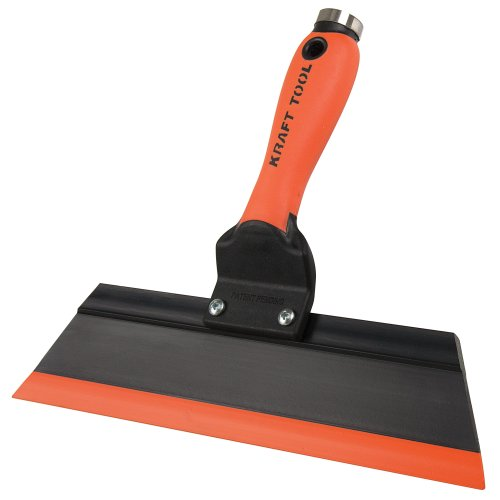 Kraft Tool GG242 Squeegee Trowel, 12-Inch, Orange/Black