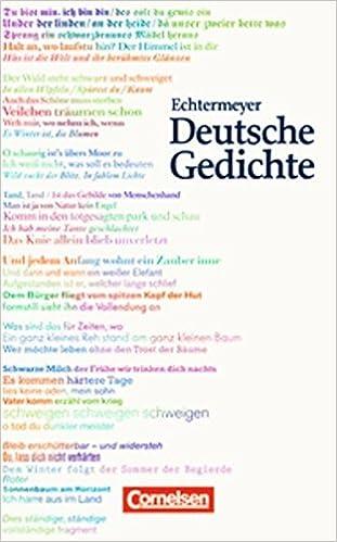 Echtermeyer Deutsche Gedichte Von Den Anfängen Bis Zur