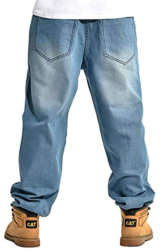 Fit Da Larghi Ballo Pantaloni Hip Uomo Slim Jeans Colour Retrò In Stile Club Hop Denim E8EUHq