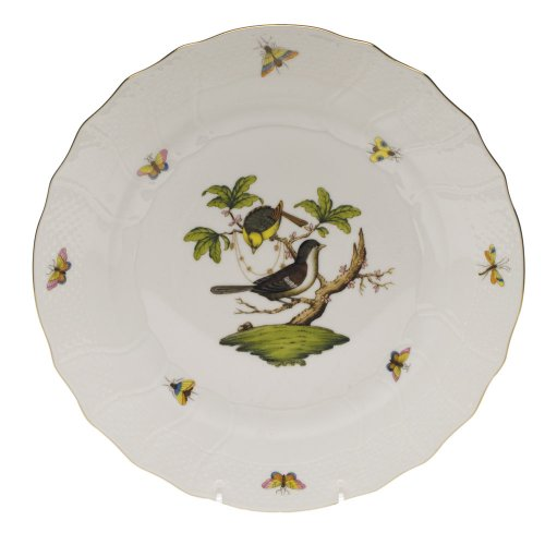 Herend Rothschild Bird Porcelain Dinner Plate Motif #1