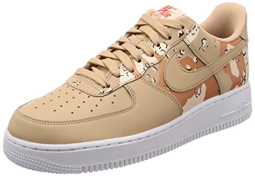 Nike Mens Air Force 1 '07 Low Camo Shoes Bio Beige/Orange Quartz/Terra Orange 823511-202 Size 9.5